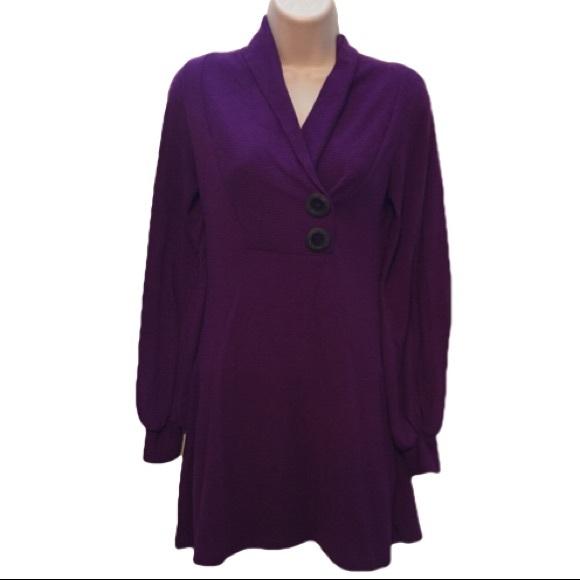 7073440924 Dillards Dresses   Skirts - 🌻SALE Purple Sweater Dress or Tunic Small